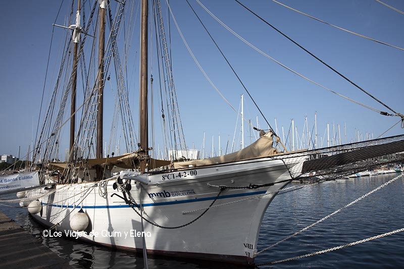 Pailebote Santa Eulalia amarrado en el puerto