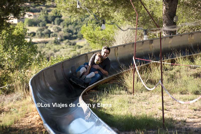 Éric y Quim en Calafell Slide, escapada en familia a Tarragona