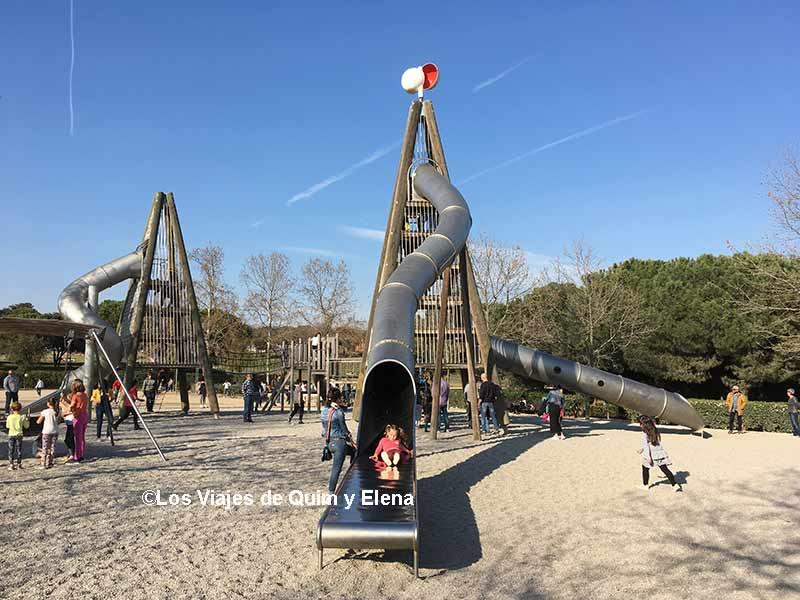 Parc de Sabadell, toboganes gigantes en Barcelona