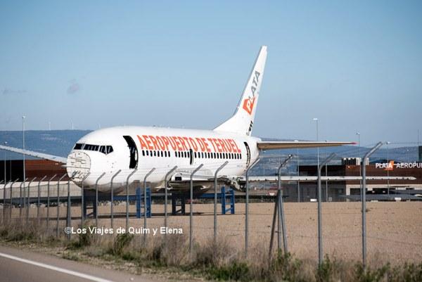 Aeropuerto de Teruel, parquing de aviones