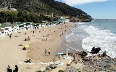 Playa del Garraf, panorámica