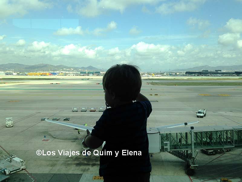 Éric en el aeropuerto de Barcelona