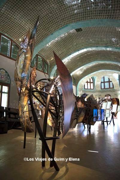 Exposición sobre la arquitectura del Sant Pau