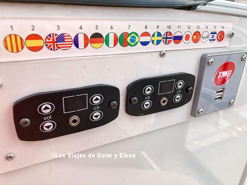 Idiomas en el Bus Turístic de Barcelona