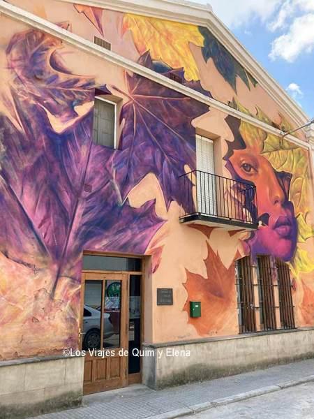 Murales en el pueblo de Lleida