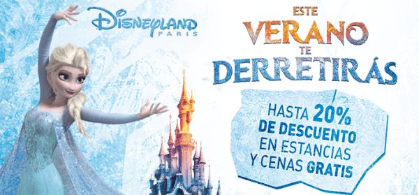 20% de descuento en Disneyland Paris y cenas gratis