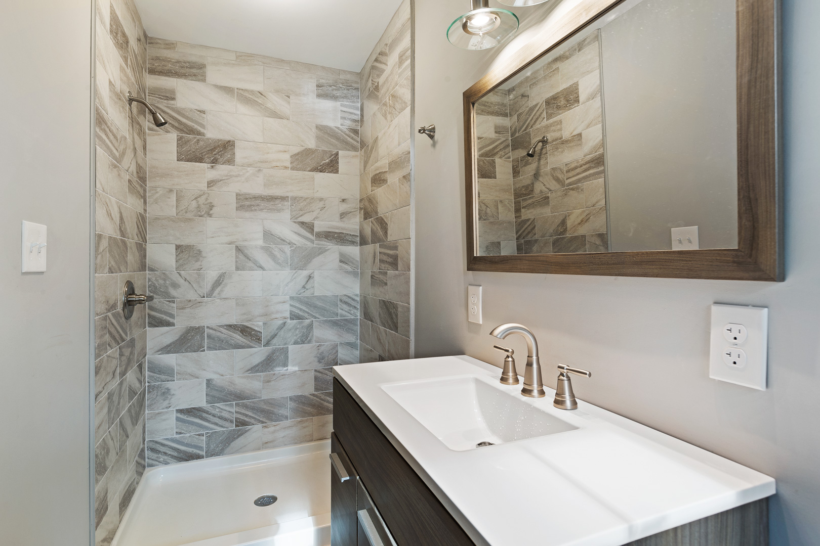 Updated bathroom in Paddington ranch-style house