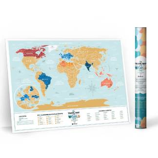 Mapa zdrapka Travel Map Lagoon World po polsku