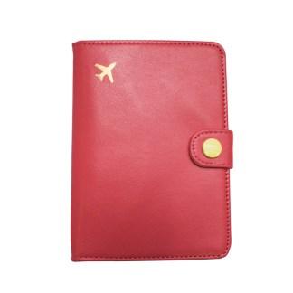 Etui na paszport i karty malina