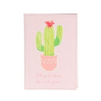 Etui na paszport i karty Pastel Cactus