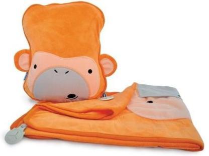 Kocyk i poduszka Trunki małpka