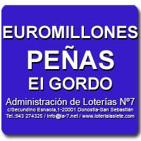 Combinaciones Peñas Euromillones 13/09/2019 y El Gordo de la Primitiva 15/9/2019 | Administración de Loterías Nº7 San Sebastián/Donostia