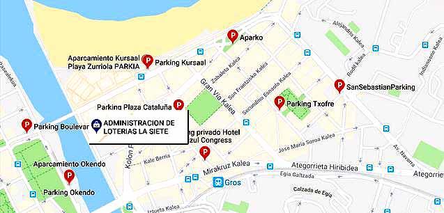 Parking- Loteria-Navidad-Empresas-y-Negocios Administracion Loterias 7 San Sebastian Donostia El Gordo