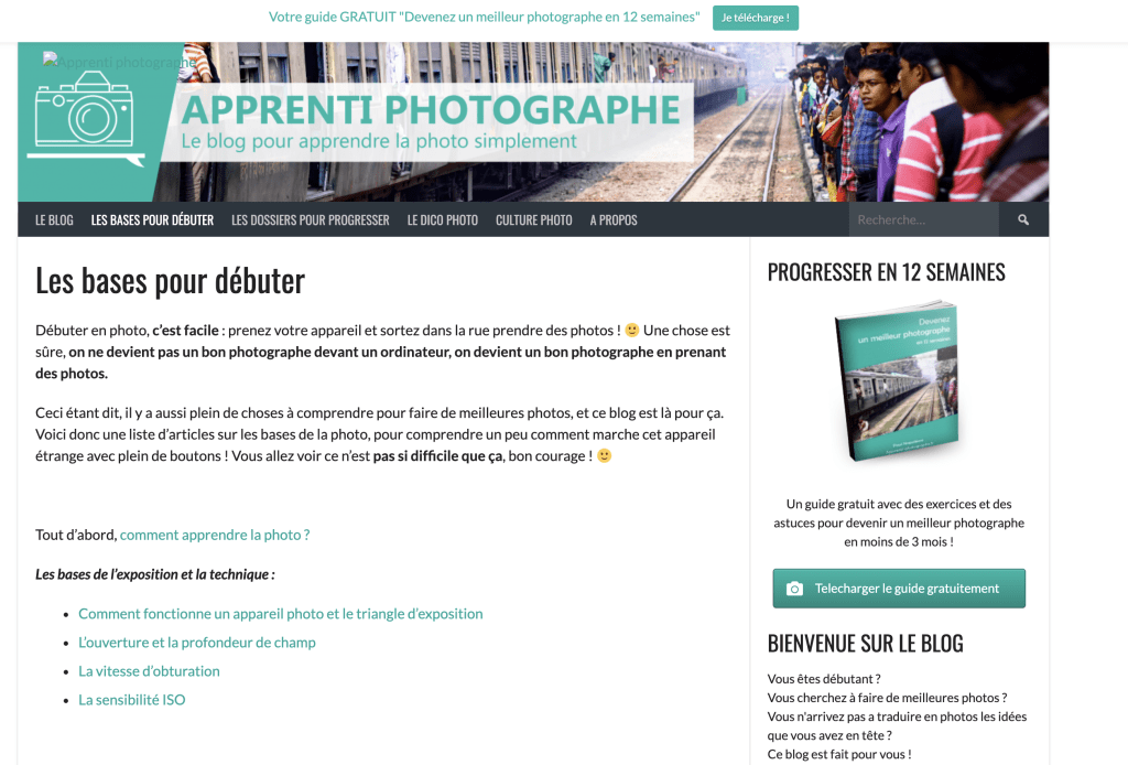 Blog Apprenti photographe