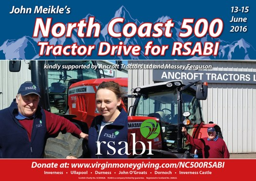 NC500 Solo Tractor Journey Raises Over £4,000 for RSABI