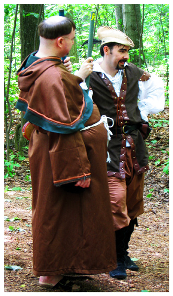 Friar Tuck and Robin Hood in Sherwood Forest, Robin In The Hood Festival