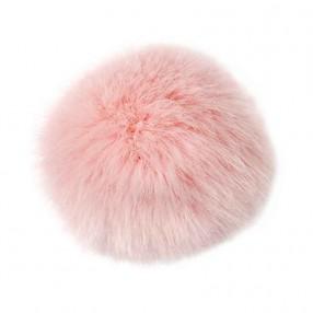 Kunstfellbommel | rosa | 10cm | #31070 | 5,99 €