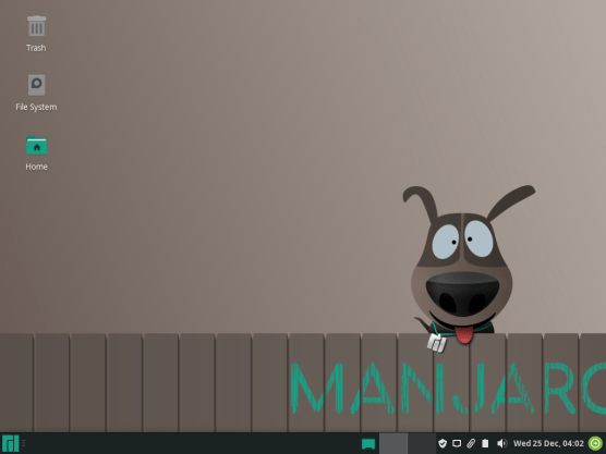 Manjaro fast and rolling update linux OS disro