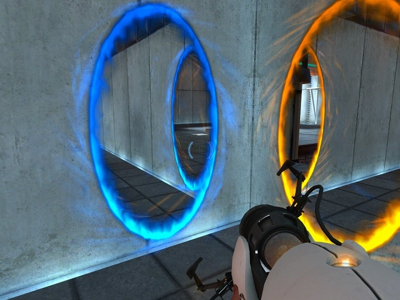 Portal doesn't requires Graphics card and is one the best puzzle game