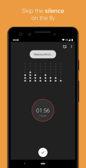 voice recorder with skip silence and call recording features