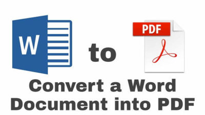 Convert a Word file into PDF