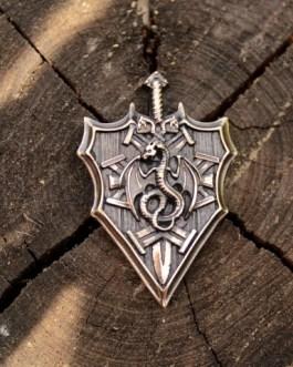 СП 017 Щит с мечом и драконом