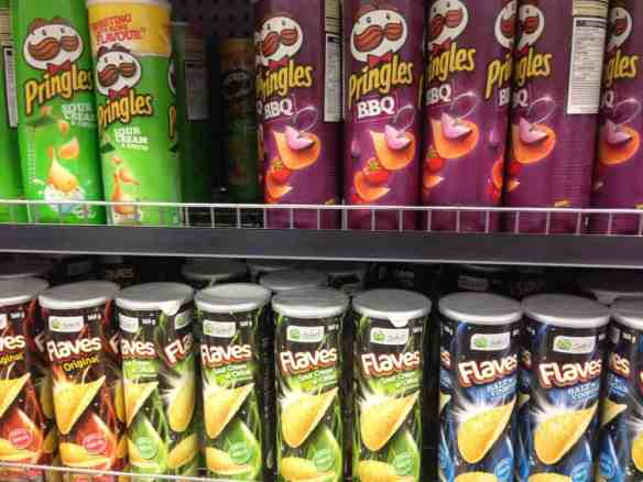 Pringles or similar keep well in your pack. It's nice to have something to share with your mates before dinner!