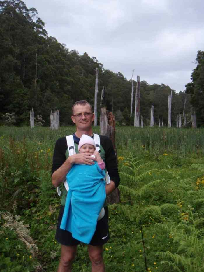 Hiking Great Ocean Rd with Hannah at 6 months old! [Pic: Linda Anderson]