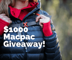 $1000 Macpac Christmas Giveaway