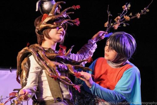 Kels Dethlefs (facebook.com/TalkingTeacupsofDoom) and Ruuzu Lapis won for both skit and costume in the Master category