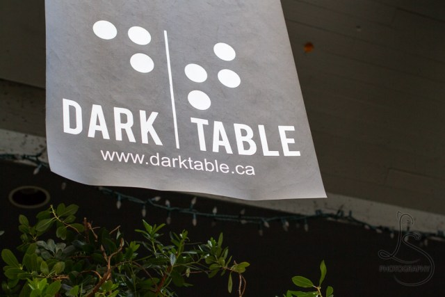 Sign for the Dark Table Restaurant in Vancouver, B.C. | LotsaSmiles Photography
