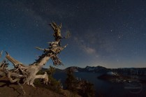 Milky Way over Crater Lake