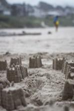 Cannon Beach sandcastles