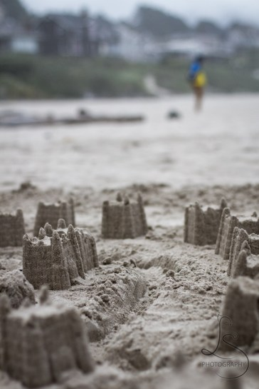 Cannon Beach sandcastles