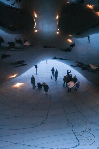 Reflections from the underside of Chicago's Bean | LotsaSmiles Photography