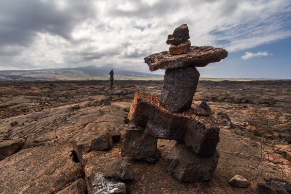 This Week On Instagram | LotsaSmiles Photography | This cairn sentinel in front of Mauna Kea was featured in this week's set on Instagram. Click to see the rest!