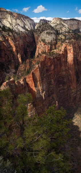 View from Angels landing, left center slice (valley floor) - Weekly Wow: Atop Angels Landing | LotsaSmiles Photography