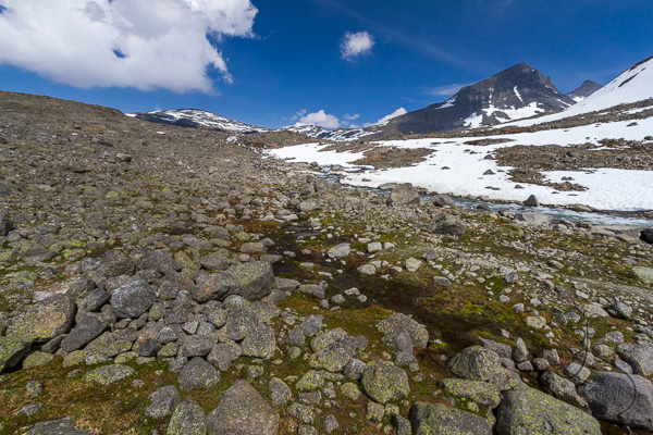 The trail, invisible among the rock field | LotsaSmiles Photography