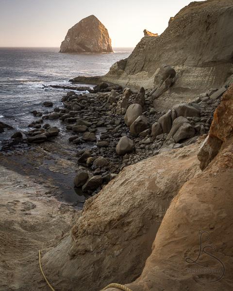 Haystack Rock in Pacific City along the Oregon coast | LotsaSmiles Photography