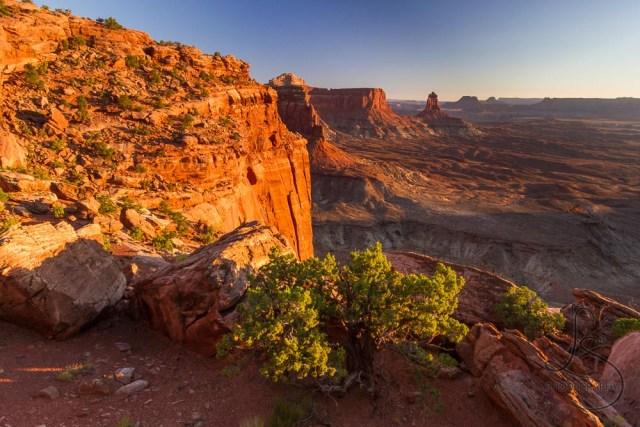 The sunset illuminating the canyon walls in Canyonlands National Park | LotsaSmiles Photography