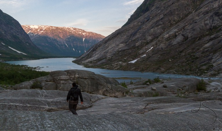 Departing from the Nigardsbreen glacier in Norway, heading back out toward the fjord | LotsaSmiles Photography