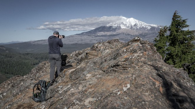 One of our number photographing the cloudy peak of Mount Adams | LotsaSmiles Photography
