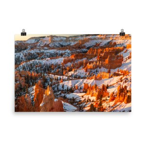 Print mockup of sunrise in Bryce Canyon | LotsaSmiles Photography