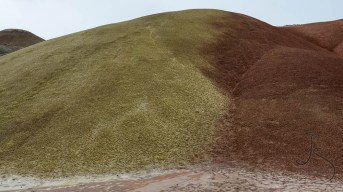 A hill divided into red and green at Oregon's Painted Hills | LotsaSmiles Photography