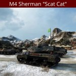 "M4 Sherman ""Scat Cat"" In Action"