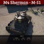 M4 Sherman as M-51 with Town Garage
