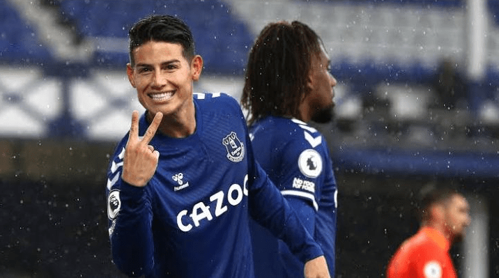 Everton Manager, Carlo Ancelloti Confirms James Rodriguez Is Set To Miss The Next Two Games