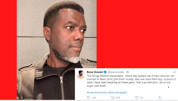 """""""This Stingy Women's Association Is What Is Called Prostitution"""" - Reno Omokri Throws Shades."""
