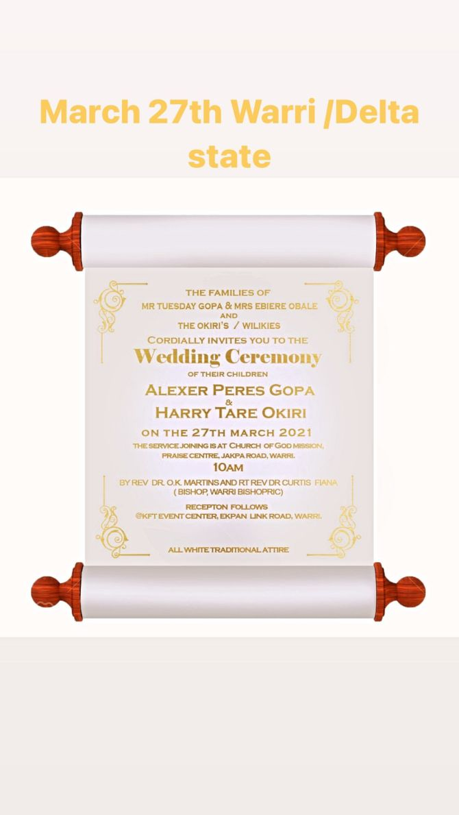 Popular Nigerian Musician, Harrysong Set To Get Married To Alexer Gopa As He Shares The Wedding Card To Everyone