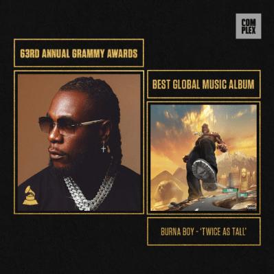 Burna Boy Speaks As He Wins First-Ever Grammy Award, Wizkid Wins Grammy Award (Detailed)